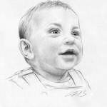 Bleistiftportrait 01, Zeichnung