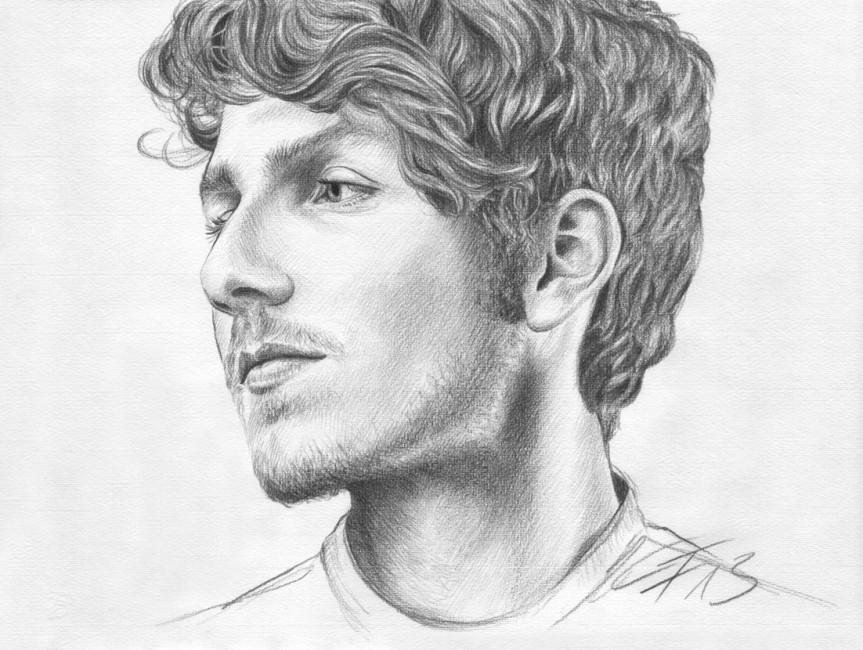 Bleistiftportrait 03, Zeichnung Portraitzeichnung