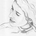 Bleistiftportrait 02, Skizze