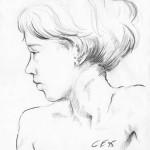 Bleistiftportrait 03, Skizze