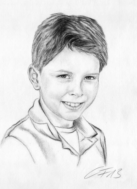 Kohle zeichnung portrait 04