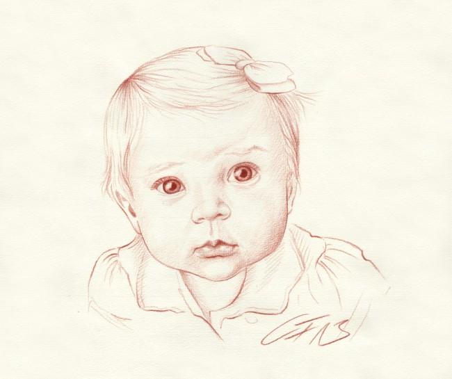 Portraitzeichnung Rötel 08