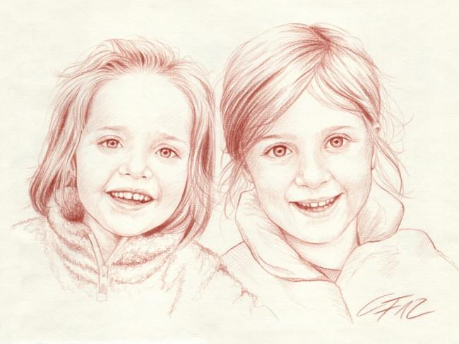 Portraitzeichnung Rötel 07
