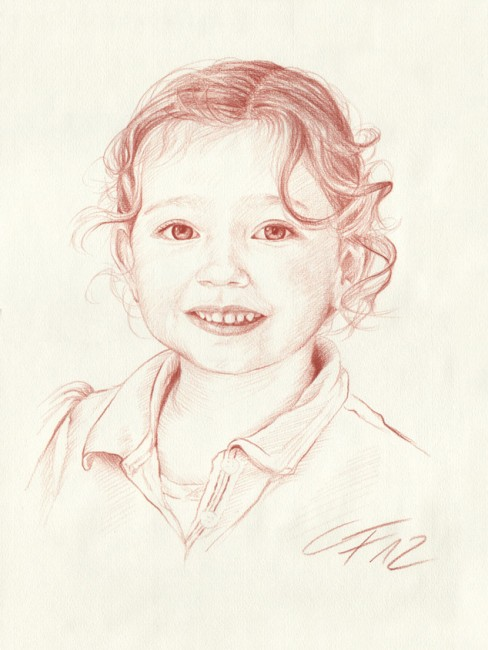 Portraitzeichnung Rötel 09