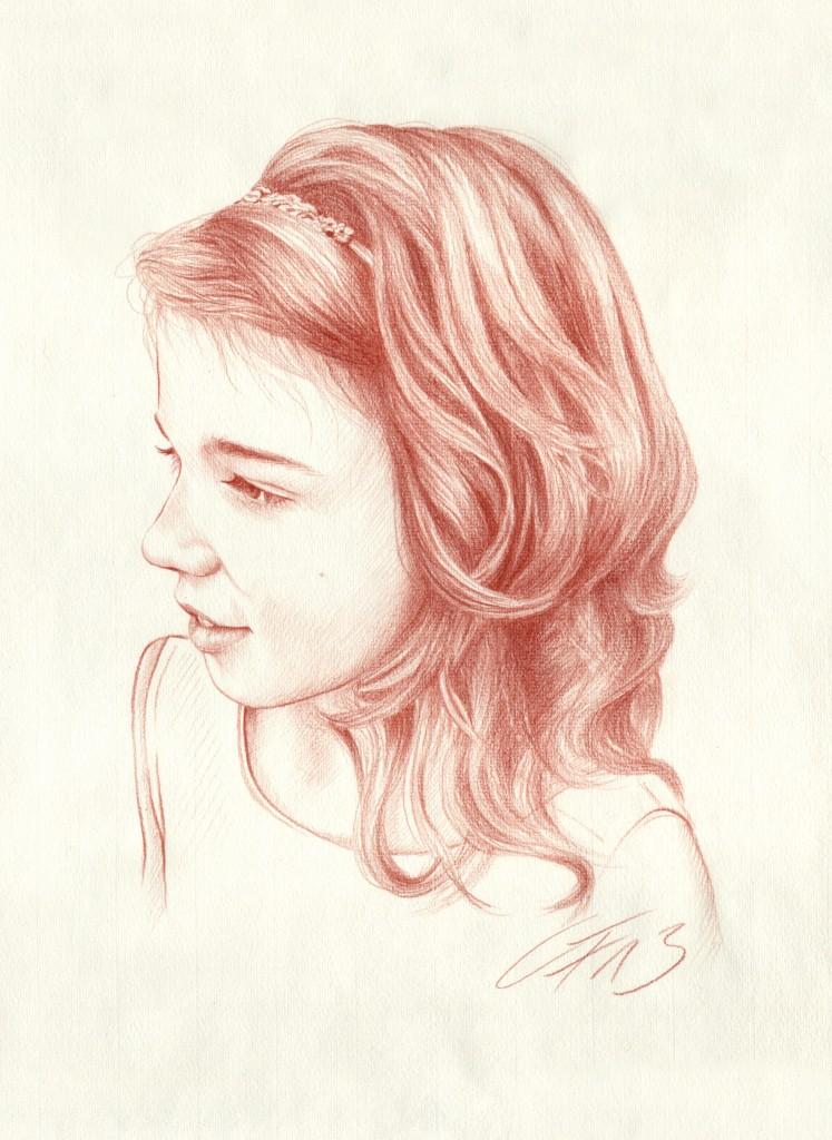 Portraitzeichnung Rötel 06