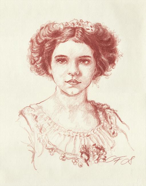 Portraitzeichnung Rötel 03