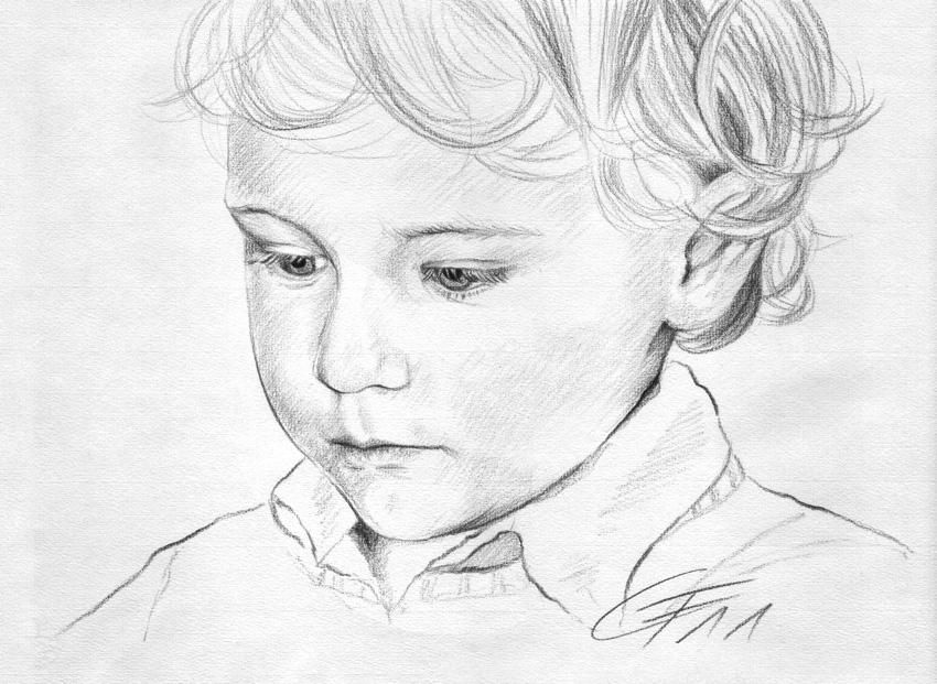 Bleistiftportrait 06, Zeichnung
