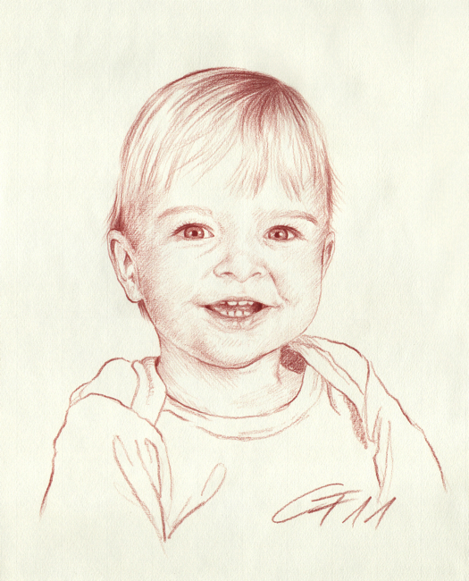Portraitzeichnung Rötel 04