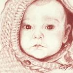 Portraitzeichnung Rötel 05