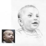 Baby Bleistiftzeichnung Portraitzeichnung