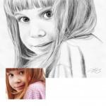 Maedchen Kohlezeichnung Portraitzeichnung